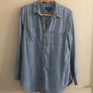 Banana Republic Boyfriend Fit Chambray Button-up